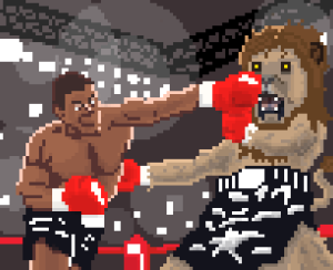 Mike Tyson Vs. A Lion (this is currently, as has been since it's creation, my desktop background) 2010